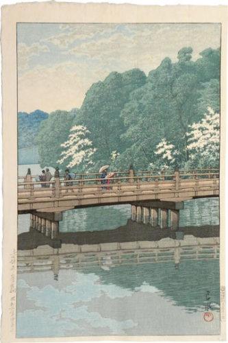 Benkei Bridge, Akasaka by Kawase Hasui at