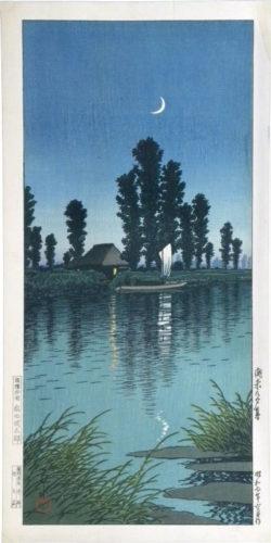 Dusk At Itako by Kawase Hasui