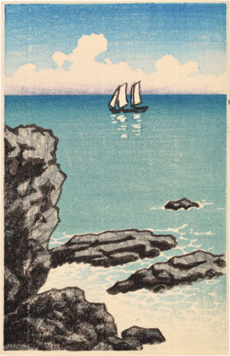 Seascape by Kawase Hasui at