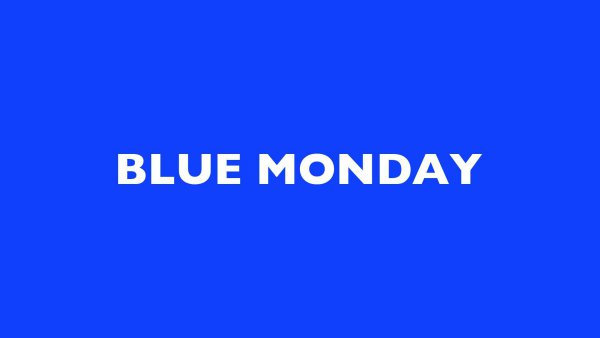 Blue Monday by Kay Rosen