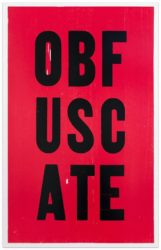 Obfuscate by Kay Rosen at Krakow Witkin Gallery (IFPDA)