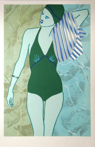 Bathing In Green by Kiki Kogelnik at