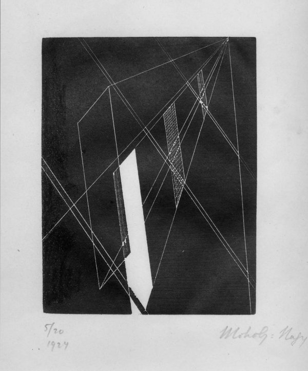 Untitled (composition) by Laszlo Moholy-Nagy