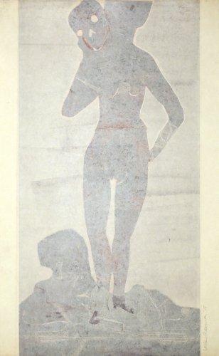 Muchacha Con La Muerte 3 by Leiko Ikemura