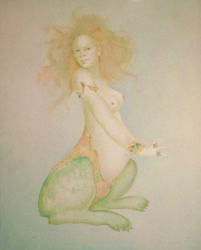 Sphinxe De Profil by Leonor Fini at