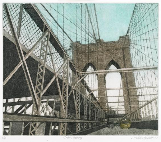 Criss-crossing by Linda Adato