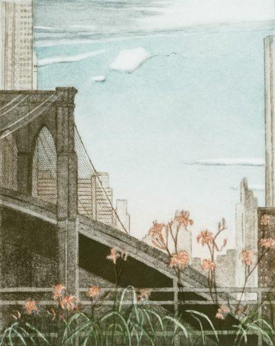 Lillies By The Bridge by Linda Adato