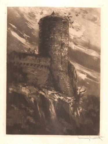 La Tour Mélusine by Louis Icart
