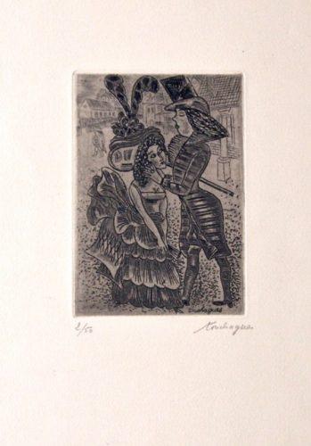 Un Couple by Louis Touchaques at