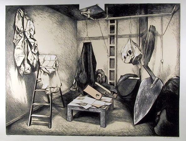 Oldenburg's Studio by Lowell Nesbitt