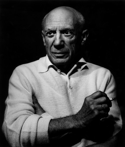 Picasso Con Un Cigarro by Lucien Clergue