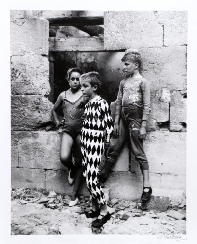 Trio De Saltimbanques, Arles by Lucien Clergue at