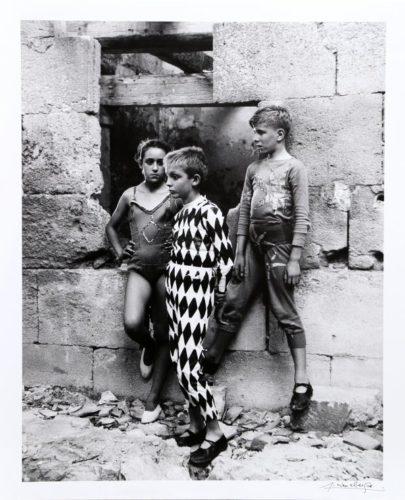 Trio De Saltimbanques, Arles by Lucien Clergue