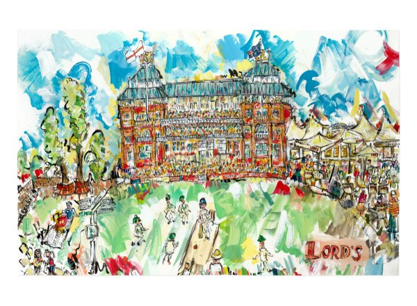 Lords, The Home Of Cricket by Lucinda Burman