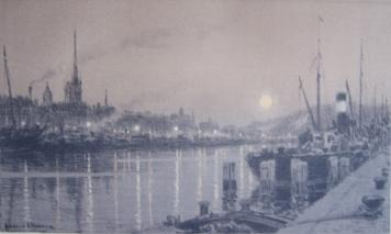 Le Port De Rouen by Ludovic Alléaume at Sylvan Cole Gallery