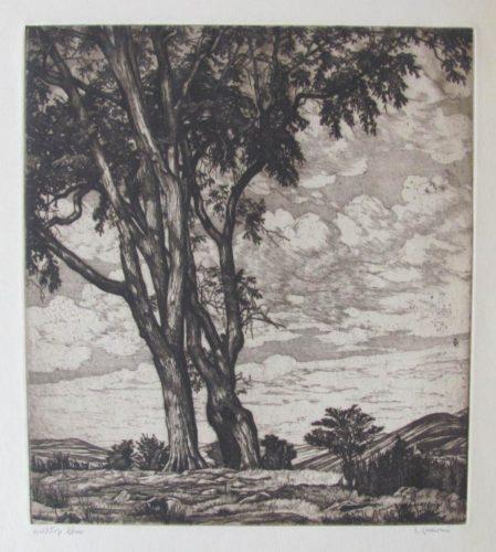 Hilltop Elms by Luigi Lucioni