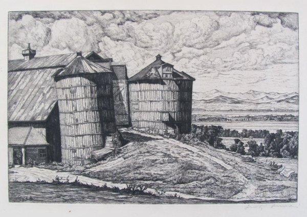 Pillars Of Vermont by Luigi Lucioni