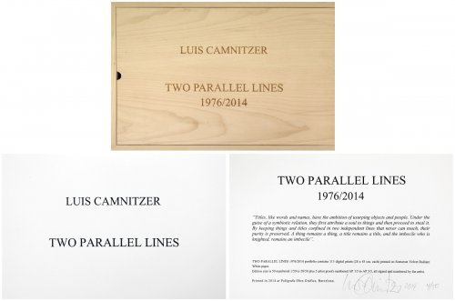 Two Parallel Lines by Luis Camnitzer