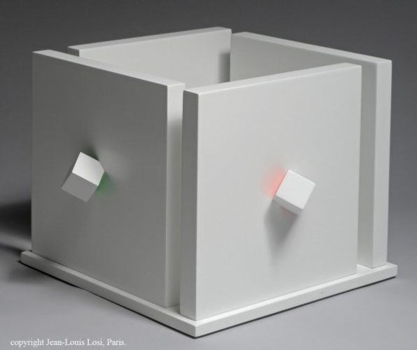 Cube Atmosphére Chromoplastique by Luis Tomasello at Luis Tomasello