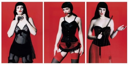 Betty Page Trilogy (triptych) by Marc Lagrange at