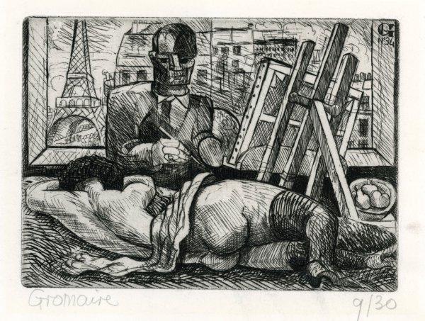 Le Peintre Et Son Modèle by Marcel Gromaire