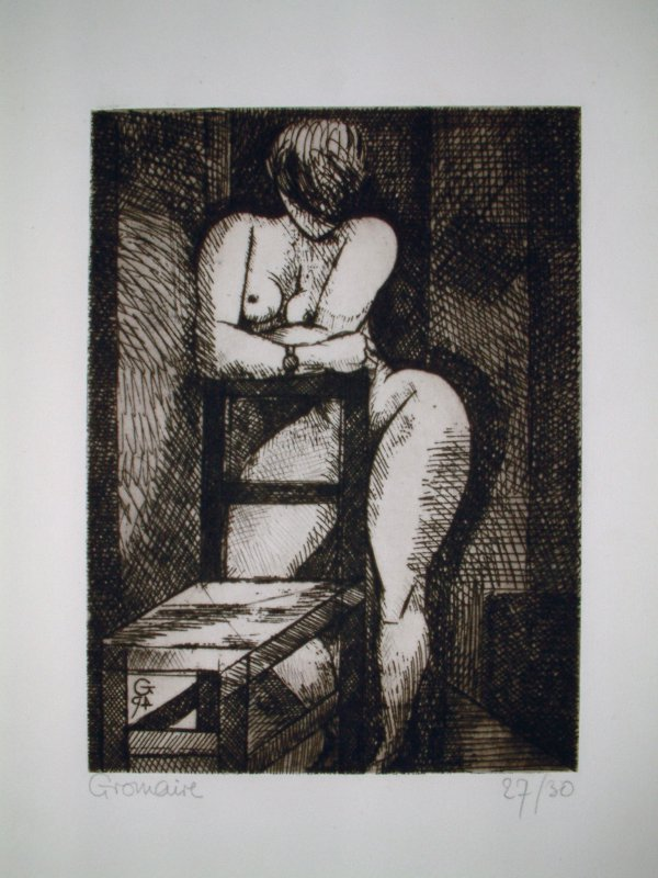 Nu À La Chaise by Marcel Gromaire
