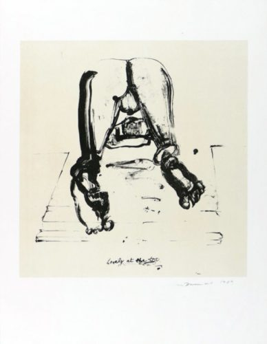 Lonely At The Top by Marlene Dumas