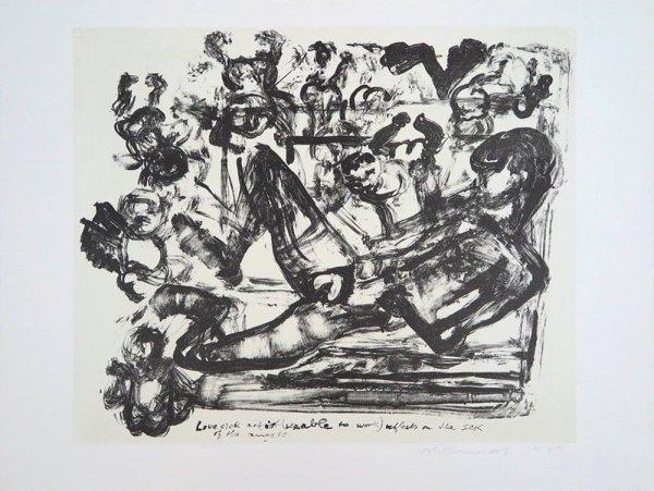 Lovesick Artist by Marlene Dumas