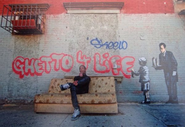 Banksy's Ghetto 4 Life by Martha Cooper at