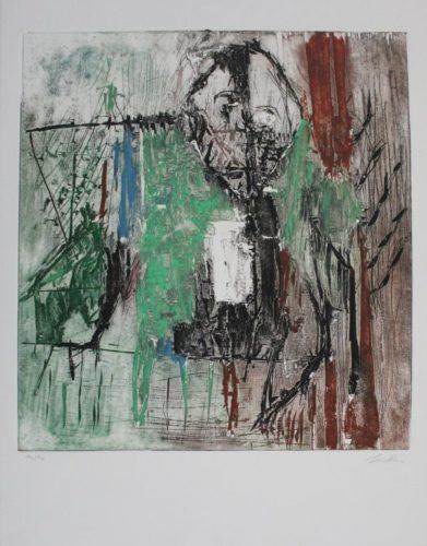 Tête Au Milieu Des Arbres / Head Amidst The Trees by Martin Bissière