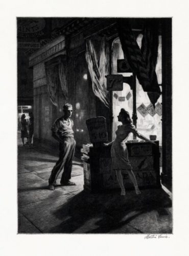 Chance Meeting by Martin Lewis at Harris Schrank Fine Prints (IFPDA)