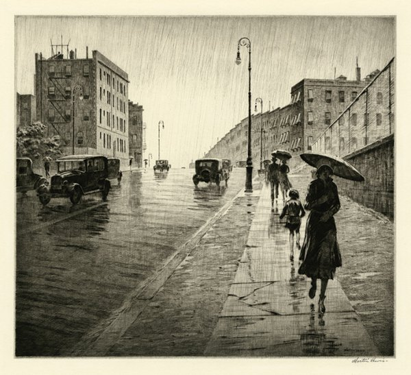 Rainy Day, Queens by Martin Lewis