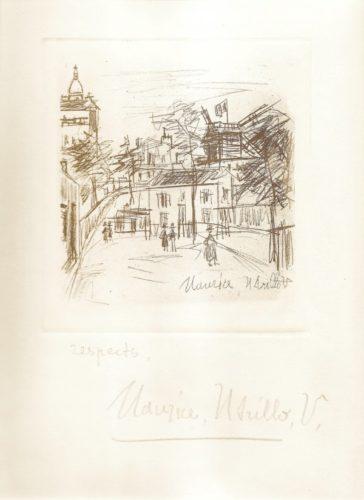 Amitiés De Montmartre by Maurice Utrillo at