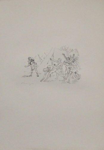 Aufstand Der Soldaten Gegen Klearchos by Max Slevogt at Sylvan Cole Gallery
