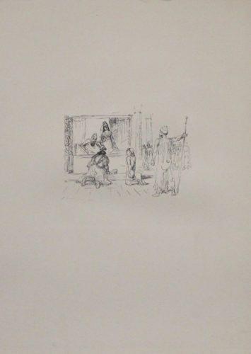 Dareios Ii. Kürt Artaxerxes Zu Seinem Nachfolger by Max Slevogt at Sylvan Cole Gallery