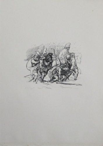 Der Schwierige Marsch Durch Den Schnee by Max Slevogt at Sylvan Cole Gallery
