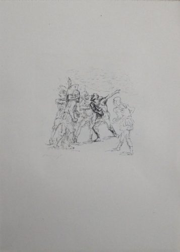 Der Verwundete Hellene by Max Slevogt at