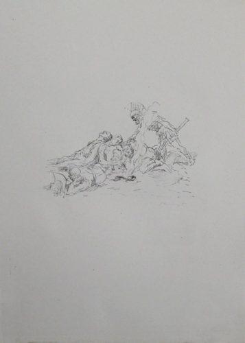 Die Soldaten Müssen Im Schnee Kampieren by Max Slevogt at Sylvan Cole Gallery