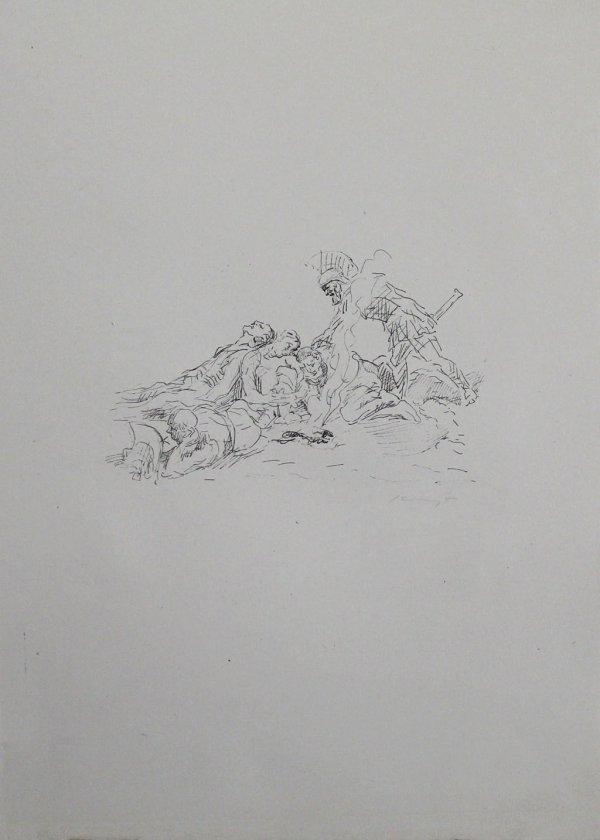 Die Soldaten Müssen Im Schnee Kampieren by Max Slevogt