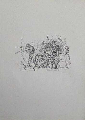 Kampf Der Hellenen Gegen Die Barbaren by Max Slevogt at