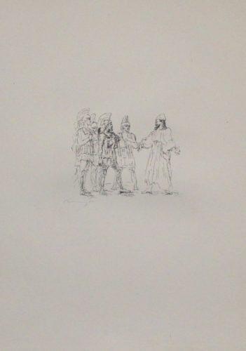 Kyros Und Die Hellenischen Obersten by Max Slevogt at Sylvan Cole Gallery