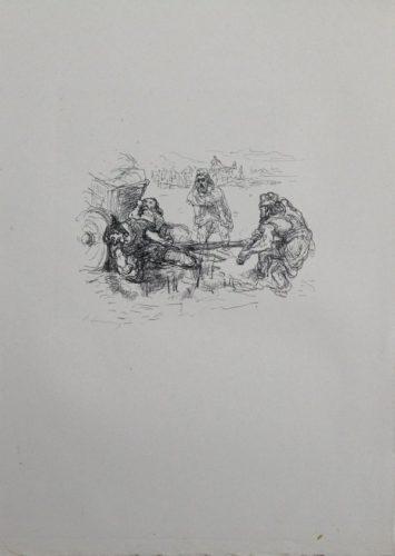 Schmutzarbeit Der Vornehmen Perser by Max Slevogt at Sylvan Cole Gallery