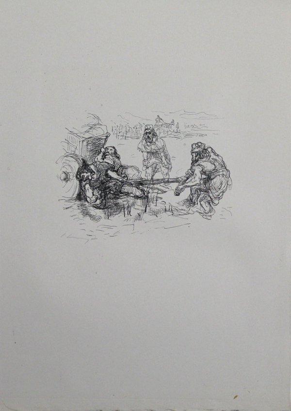Schmutzarbeit Der Vornehmen Perser by Max Slevogt