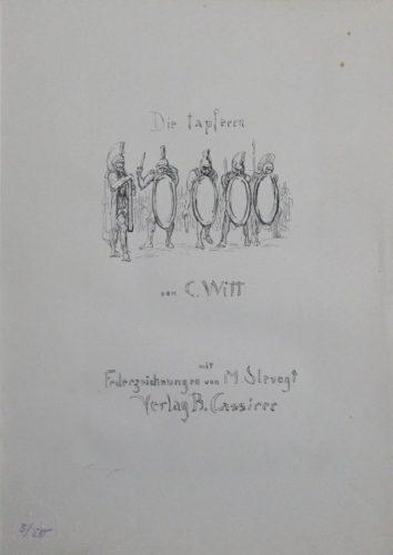 """Titel """"die Tapferen Zehntausend"""" by Max Slevogt at Sylvan Cole Gallery"""
