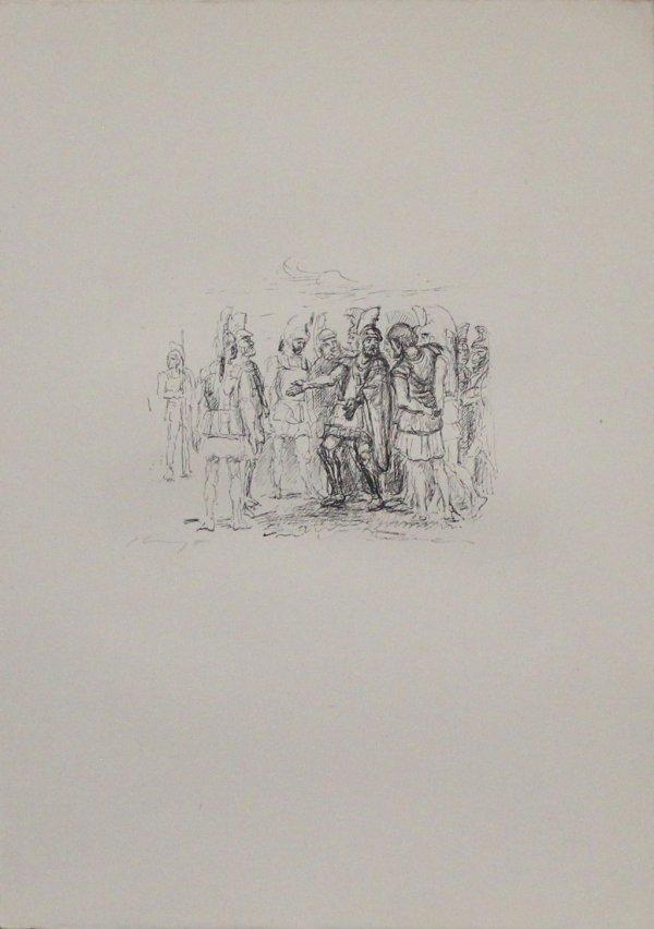 Versammlung Des Klearchos by Max Slevogt