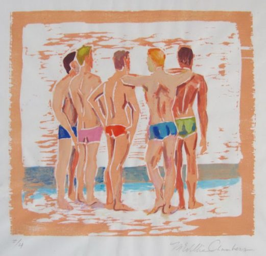 5 Men On The Beach by McWillie Chambers