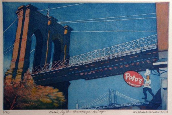 Pete's, By The Brooklyn Bridge by Michael Arike