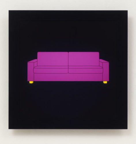 Sofa by Michael Craig-Martin at