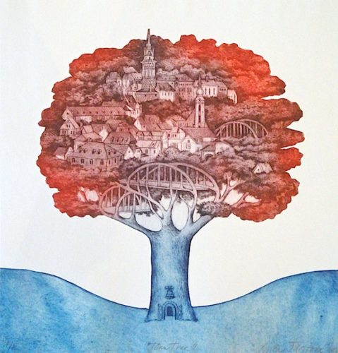 Town Tree by Mila Fürstová at Mila Fürstová