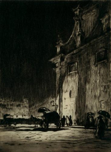 A Rainy Night In Rome by Muirhead Bone